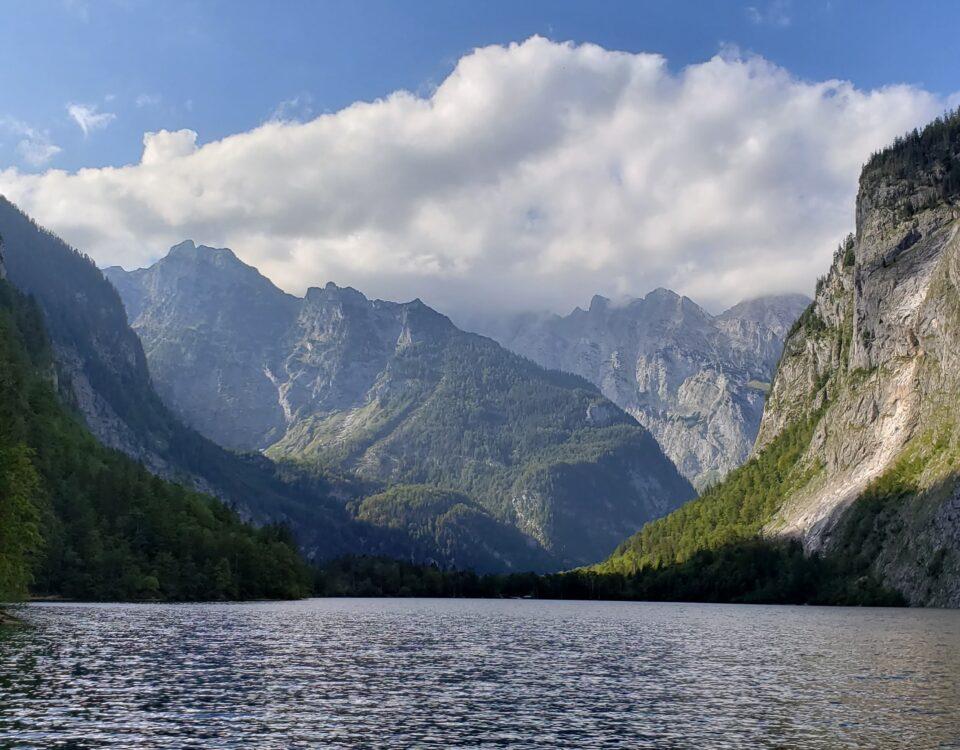 beautiful lake and mountain scene